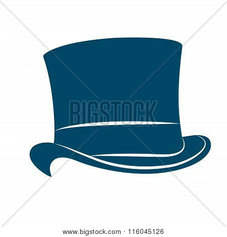 Vintage man s top hat label. Top hat illustration.