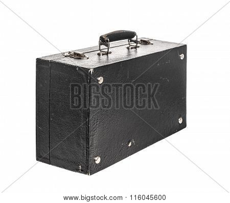 Old black suitcase.