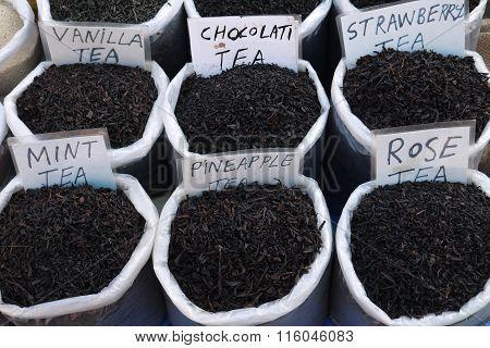 different grades of tea