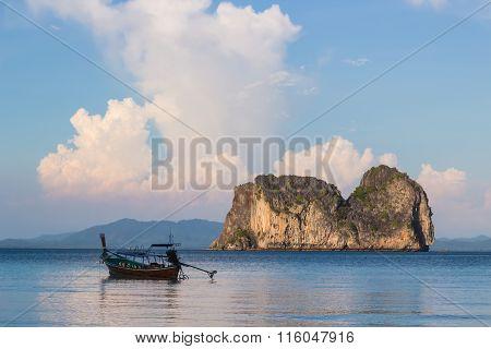 Boat And Koh Ma Island
