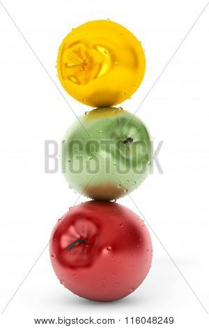 Geen, Red And Gold Apple
