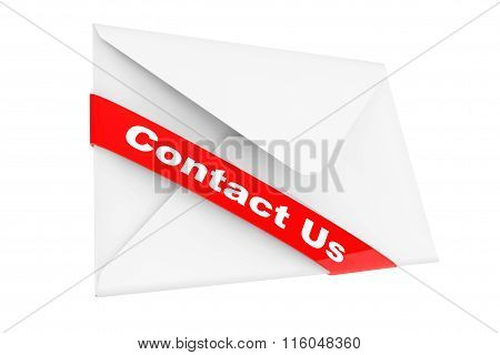 Envelope With Contact Us Sign
