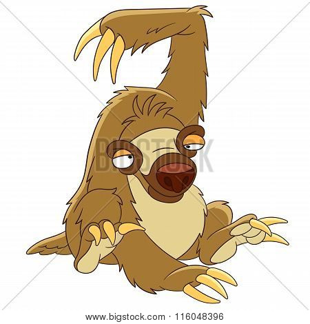 Cute Cartoon Sloth