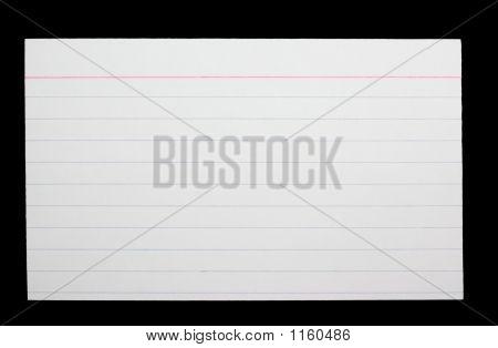 White Index Card