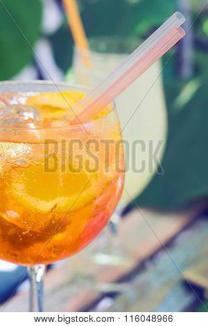 Spritz Aperol Cocktail,  Selective Focus