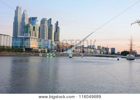 Buenos Aires - December 2, 2015: Day Light View Of Puerto Madero