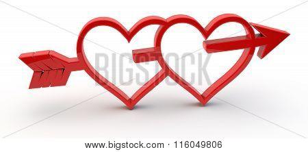3D Red Love Symbol