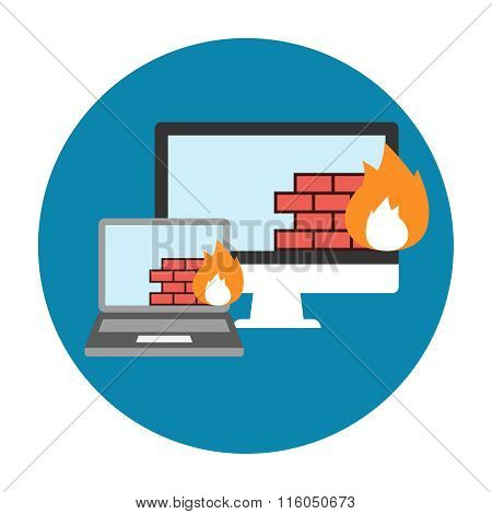 Firewall Icon Flat