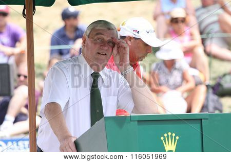 Ivor Robson At The Golf French Open 2015