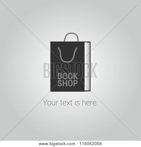 Bookstore vector logo template