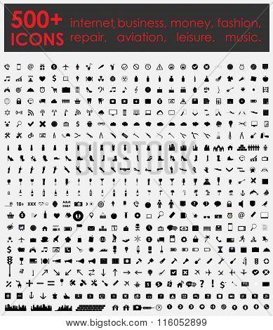 More 500 Icons: Internet, Business, Money, Fashion, Repair, Aviation