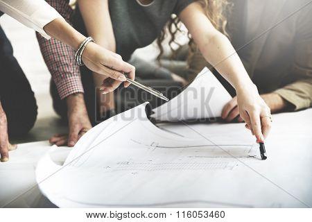 Cooperation Corporate Achievement Planning Design Draw Teamwork Concept