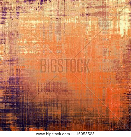 Art vintage background with space for text and different color patterns: yellow (beige); brown; red (orange); purple (violet); gray