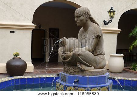 Woman of Tehuantepec Fountain in San Diego Balboa Park