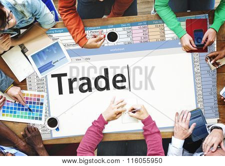 Trade Exchange Import Export Business Transaction Concept