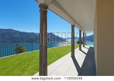 Lake Maggiore, view from the porch of an a house