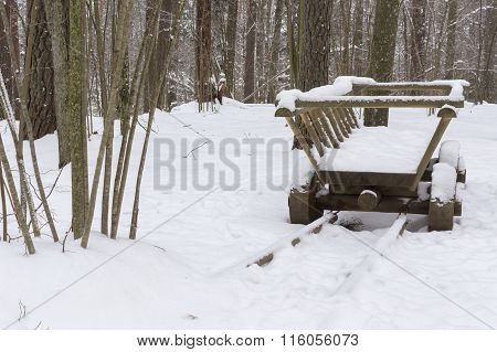 Horse Drawn Carts In Winter