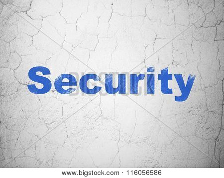 Security concept: Security on wall background
