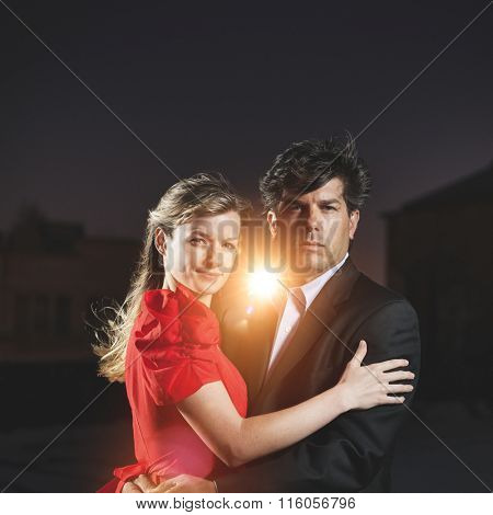 Love Couple Hugging Embracing Loyalty Relationship Concept