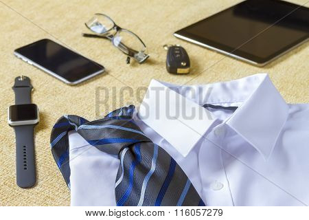 Business, Style, Clothes And Objects Concept