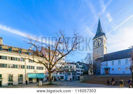 The St. Peter Church, Zurich