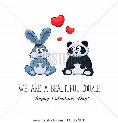 Valentine's Day cartoon card