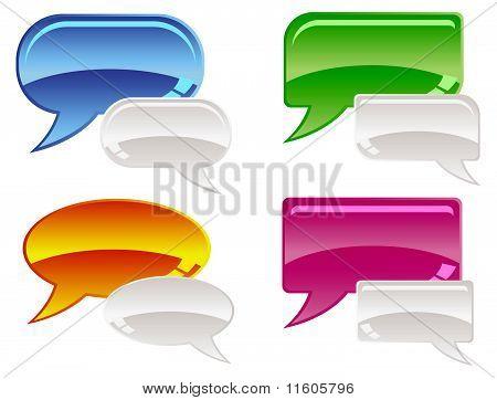 Glossy Speech Bubbles