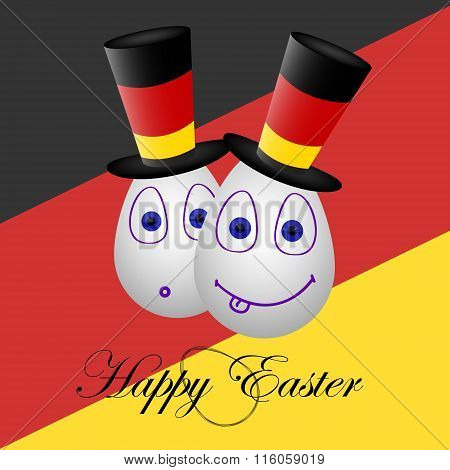 Card Happy Easter For Germany 1