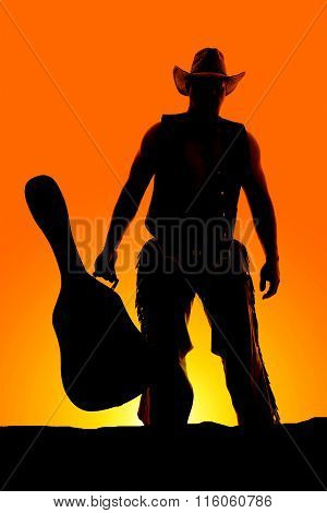 Silhouette Of Man With Guitar Front