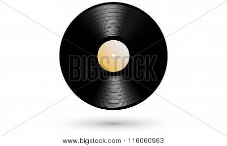 New gramophone vinyl LP record realistic icon