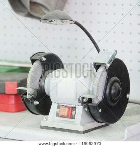 The image of a grinder machine