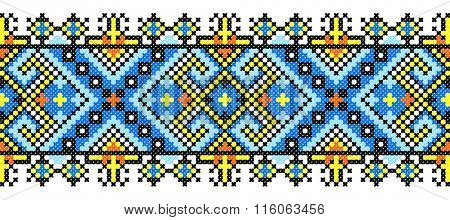 embroidered handmade cross-stitch ethnic Ukraine pattern