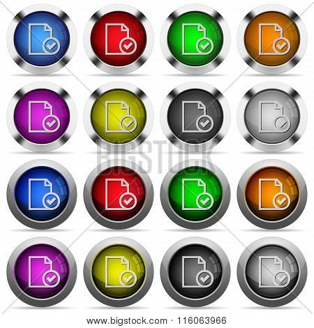 Document Accepted Button Set