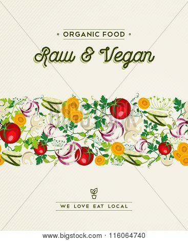 Raw And Vegan Food Design With Vegetable Decoration