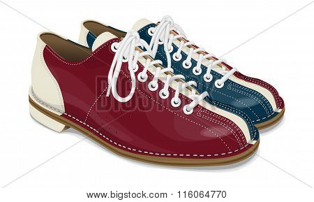 Bowling Shoes Red And Blue