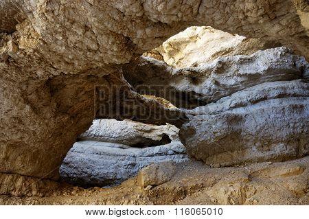 Rock Formations In Judea Desert, Israel