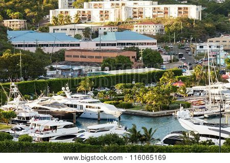 Marina And City Of St. Thomas, Usvi
