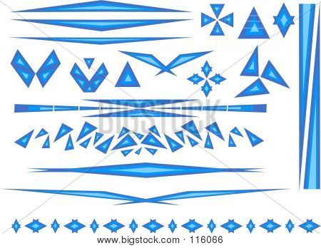 Triangle Elements In Blue