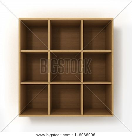 Light Hanging Bookshelf Isolated On White Background