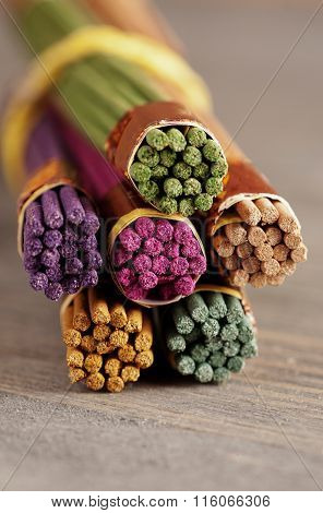Bundle Of Colored Aroma Sticks
