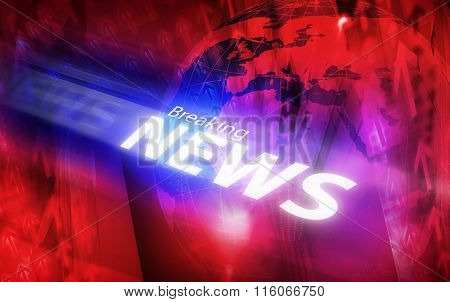 Graphical Modern Digital World Breaking News Background