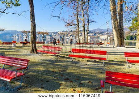 Lugano Lakefront View