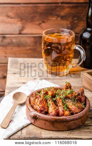 Grilled Chicken Wings With Beer