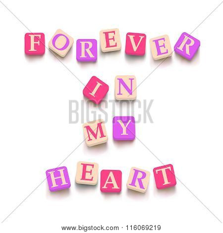 Words forever in my heart