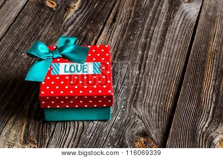 gift box with the inscription love