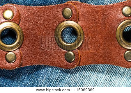Jeans With Leather Belt