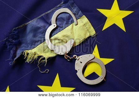Partnership. EU and UA Flag