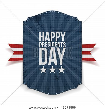 Presidents Day big realistic Banner Template