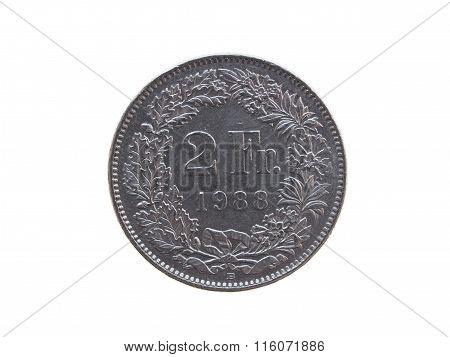 Swiss Franc (chf) Coin