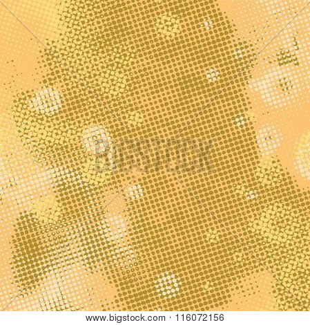 Abstract grunge background with splats and halftone effect